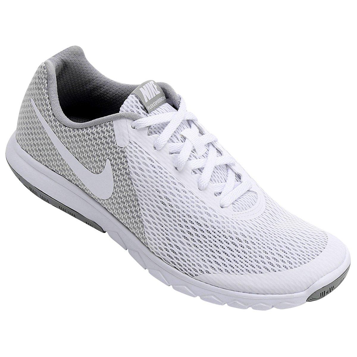 2f3850a5357 Tênis Nike Flex Experience Rn 6 Feminino - Branco e Cinza - Compre Agora