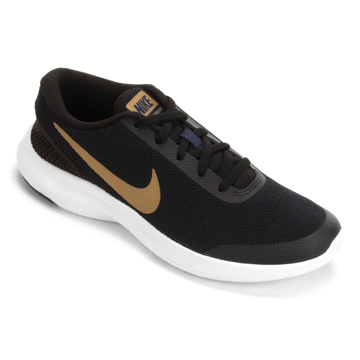 c4d54bb4505 Tênis Nike Flex Experience RN 7 Feminino - Preto e Dourado - Compre Agora