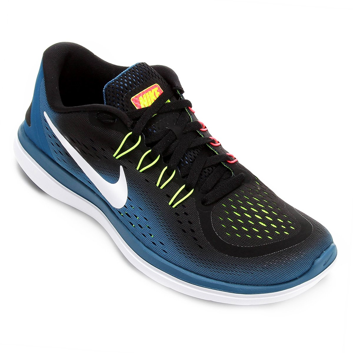 a5ed17d917f Tênis Nike Flex Run Masculino - Preto e Azul - Compre Agora