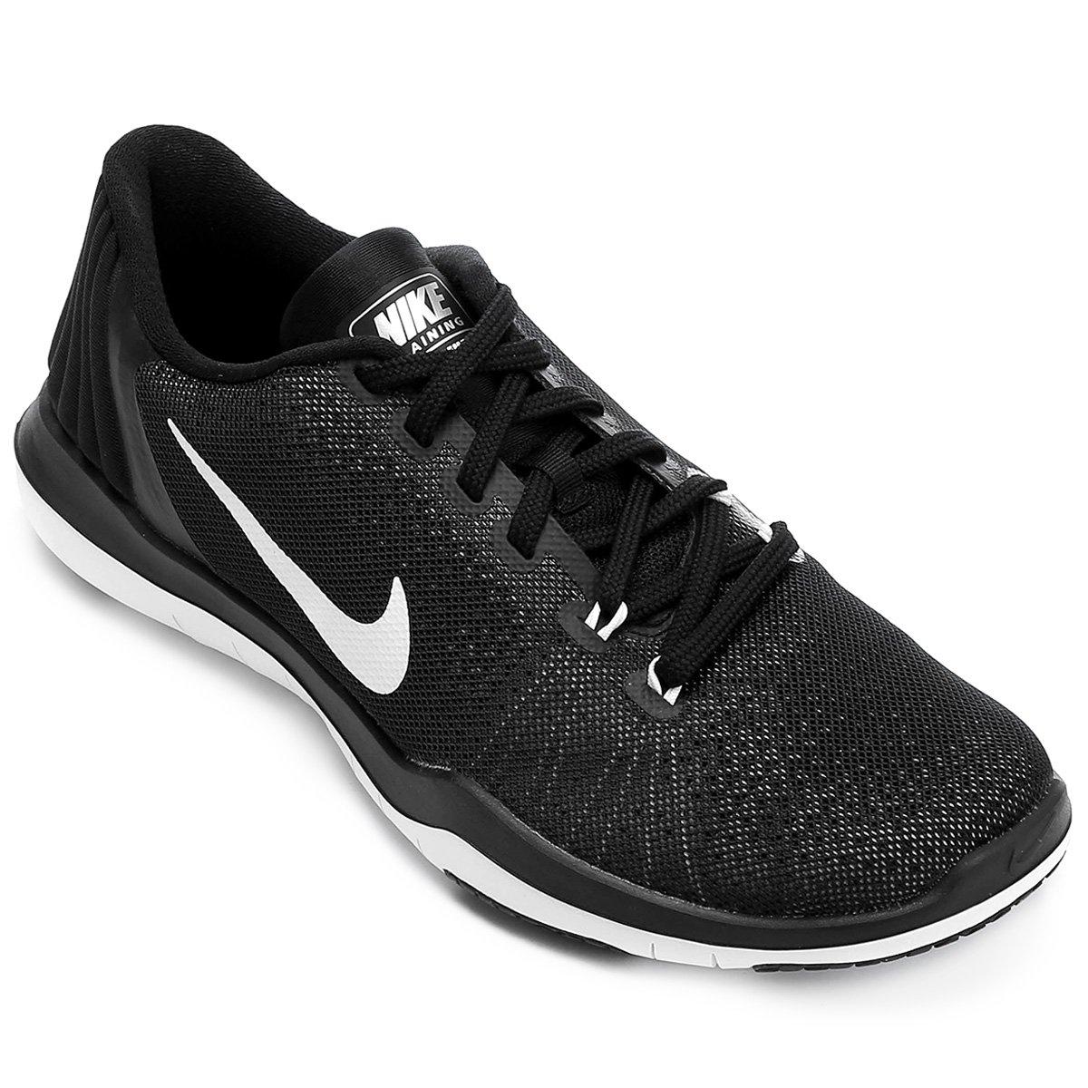 c8eda2bf2e8 Tênis Nike Flex Supreme TR 5 Feminino - Preto e Branco - Compre Agora
