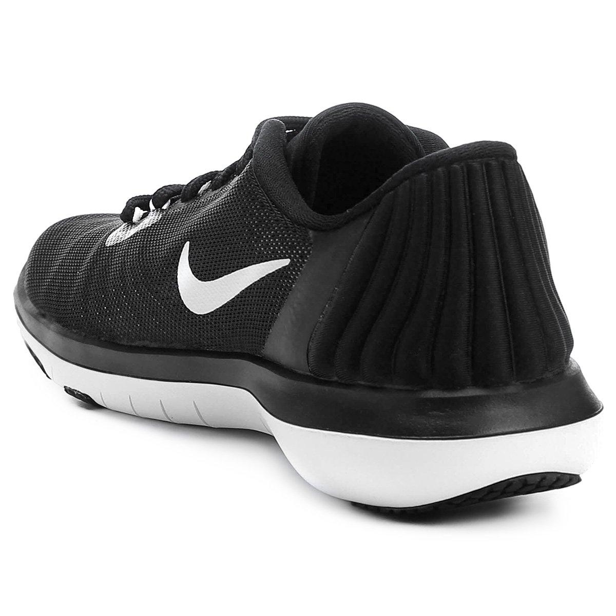 Tênis Nike Flex Supreme TR 5 Feminino - Preto e Branco - Compre ... ce9672cbbc42c