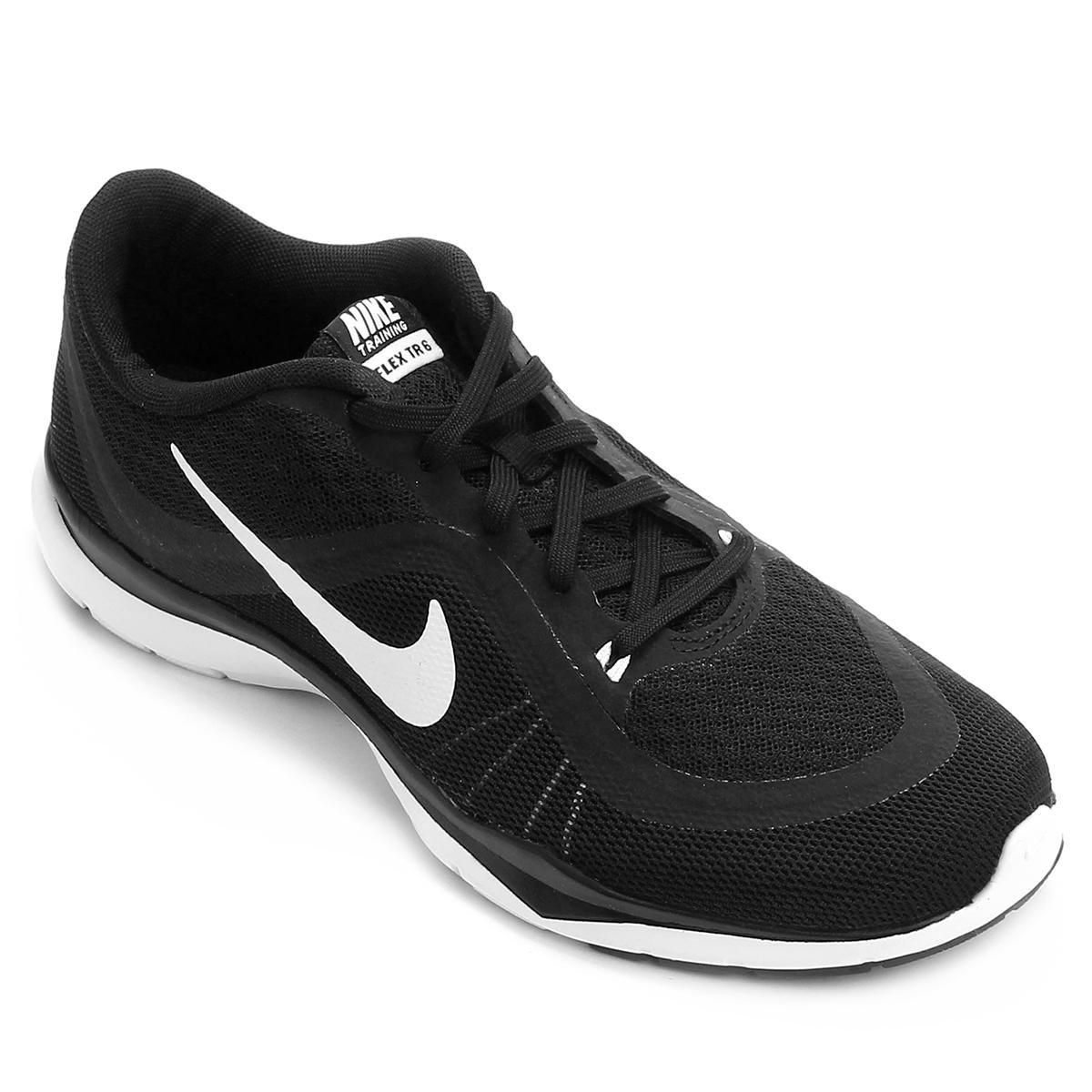 863ce56b1 Tênis Nike Flex Trainer 6 Feminino - Preto e Branco - Compre Agora ...
