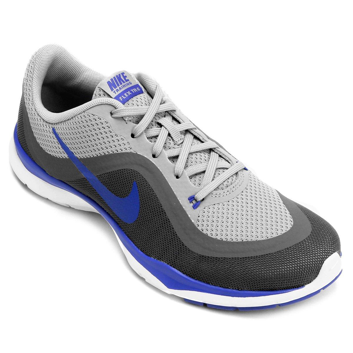 Tênis Nike Flex Trainer 6 Feminino - Cinza e Azul - Compre Agora ... 146d0a94a1111