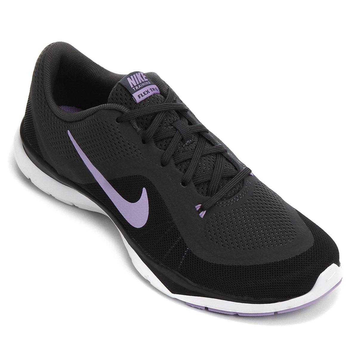 721d19d062 Tênis Nike Flex Trainer 6 Feminino - Preto e Lilás - Compre Agora ...