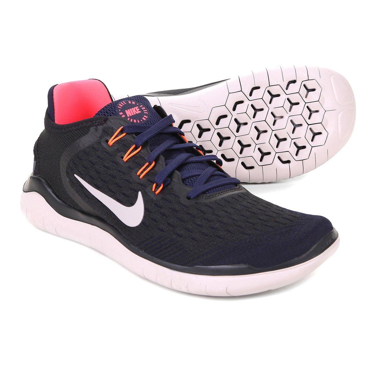d77f6e077f2 Tênis Nike Free Rn 2018 Masculino - Preto e Azul - Compre Agora ...
