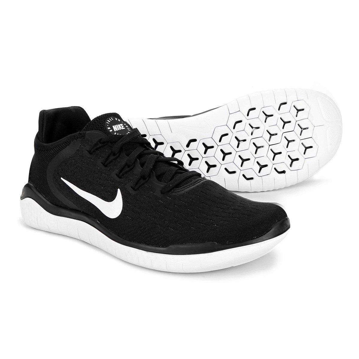 bde781bc026 Tênis Nike Free Rn 2018 Masculino - Preto e Branco - Compre Agora ...