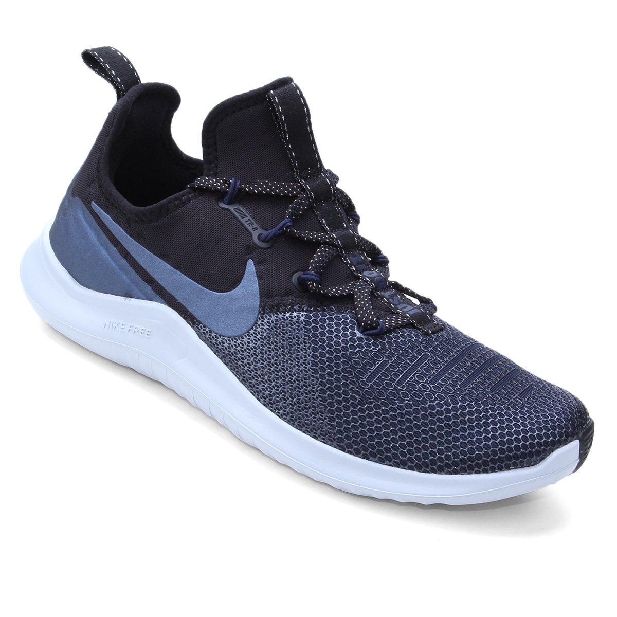 112976106219b Tênis Nike Free Tr 8 Metalic Feminino - Preto e Azul - Compre Agora ...