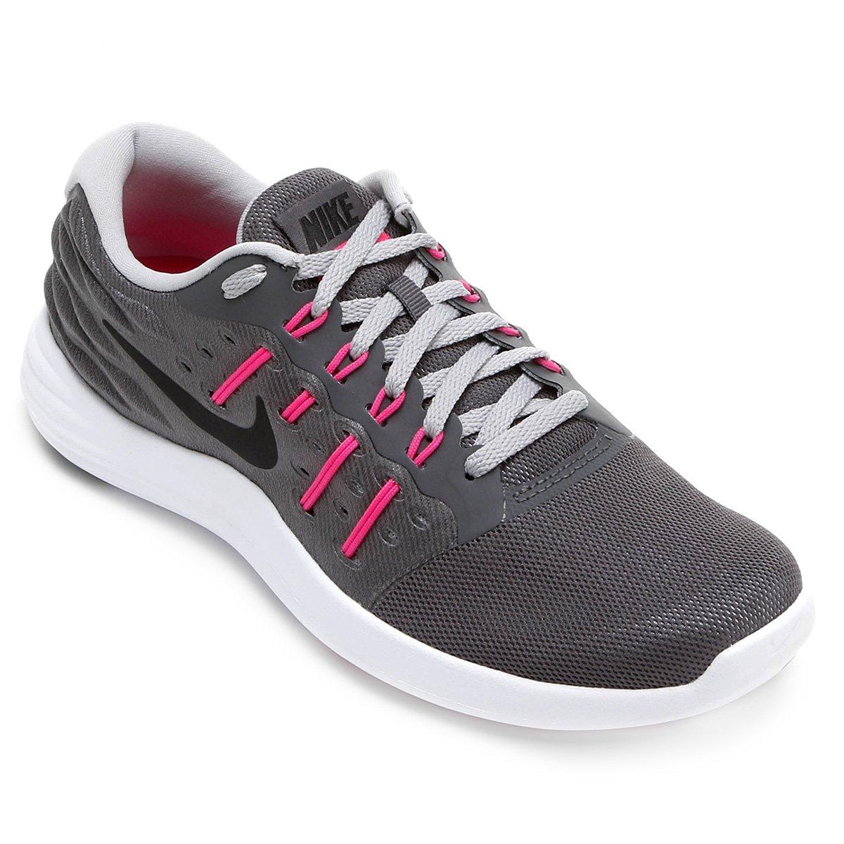 Tênis Nike Lunar Stelos Feminino - Chumbo e Rosa - Compre Agora ... f1b2839348400