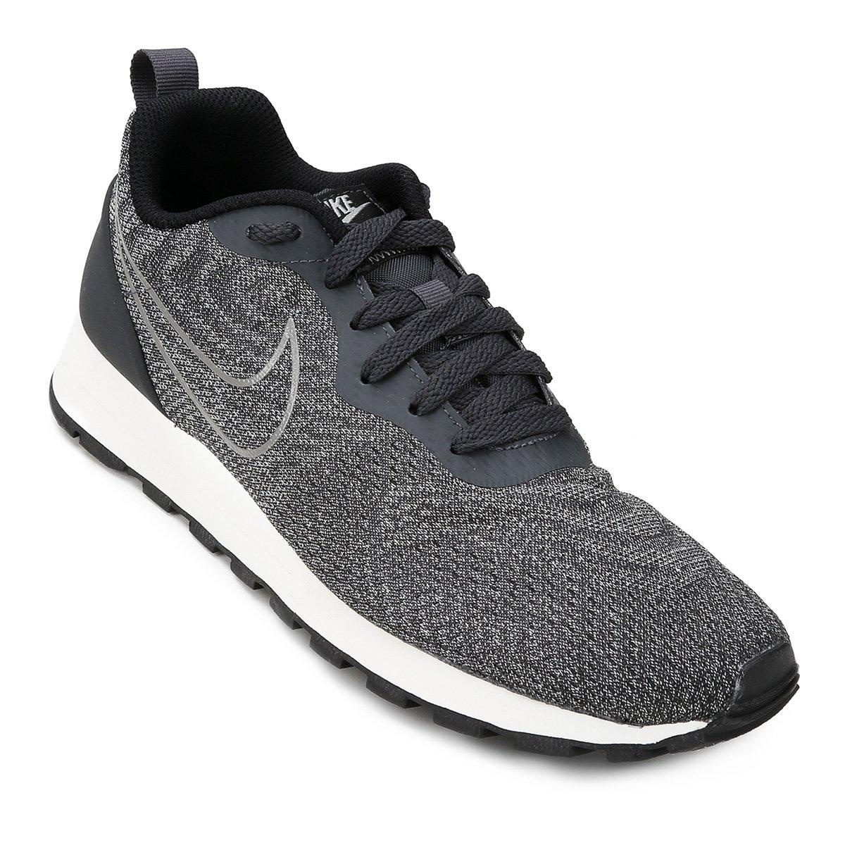 737ce1e017 Tênis Nike Md Runner 2 Eng Mesh Feminino - Chumbo e Preto - Compre Agora