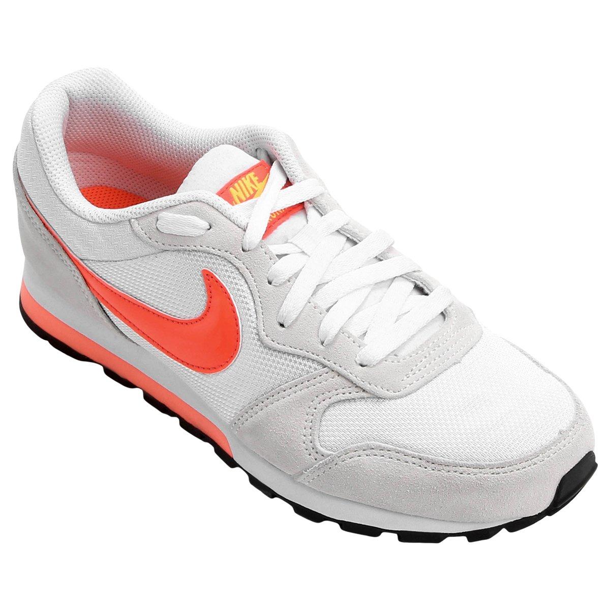 73b60a3cfc088 Tênis Nike Md Runner 2 Feminino - Branco e Laranja | Loja do Inter