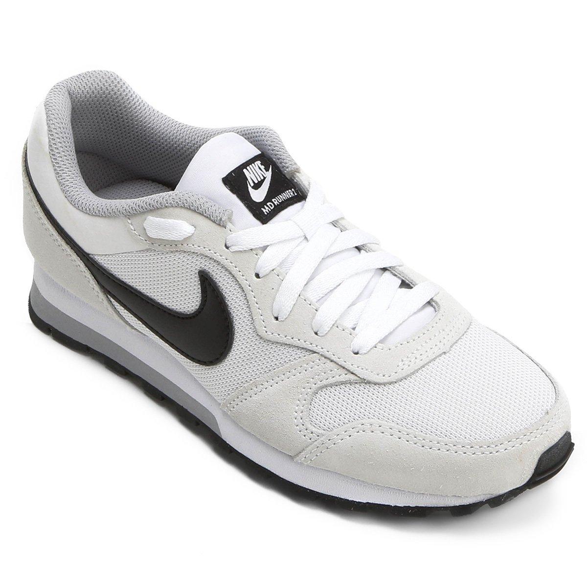 c31f3643f0f87 Tênis Nike Md Runner 2 Feminino - Gelo e Preto - Compre Agora