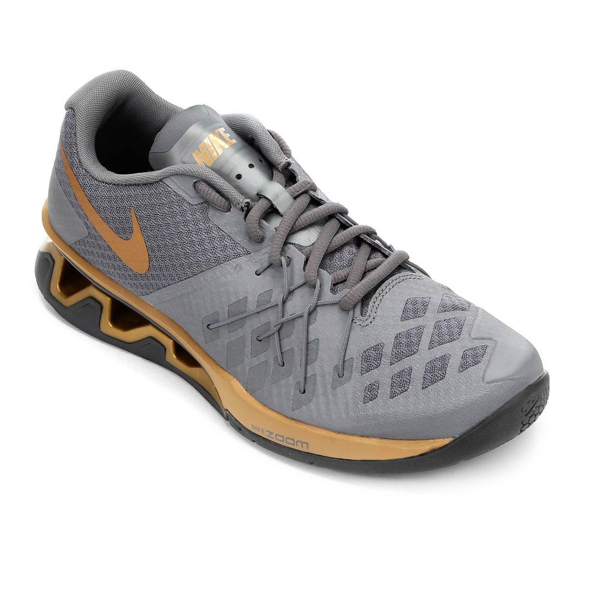 e892ebe5122 Tênis Nike Reax Lightspeed 2 Masculino - Cinza e Dourado - Compre Agora