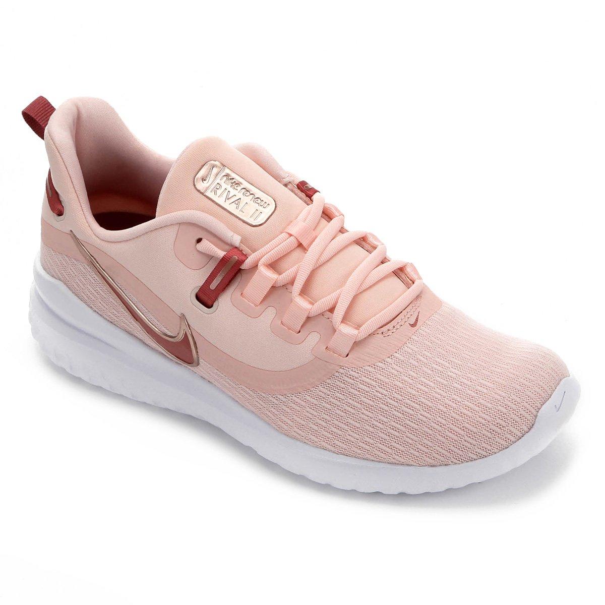 Tênis Nike Renew Rival 2 Feminino Rosa Claro