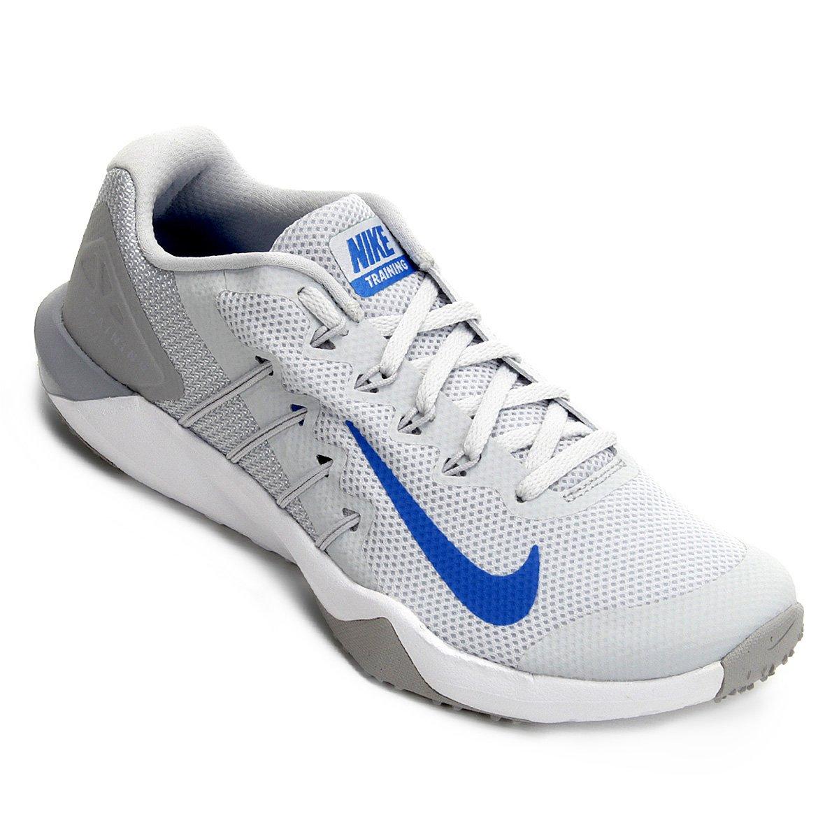 bc8029f018c Tênis Nike Retaliation Tr 2 Masculino - Prata e Azul - Compre Agora ...
