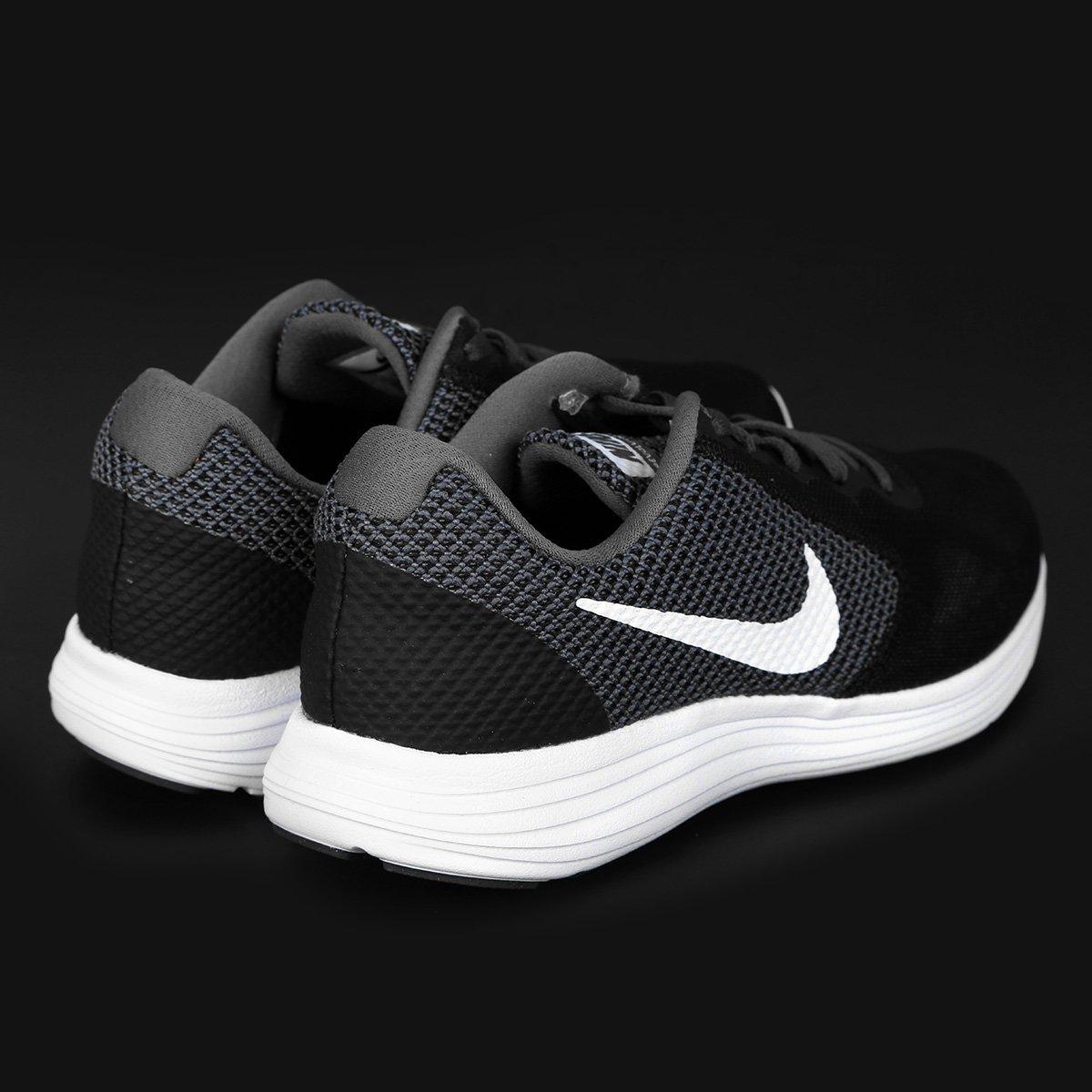 Tênis Nike Revolution 3 Feminino - Preto e Off White - Compre Agora ... e3f06415970f1
