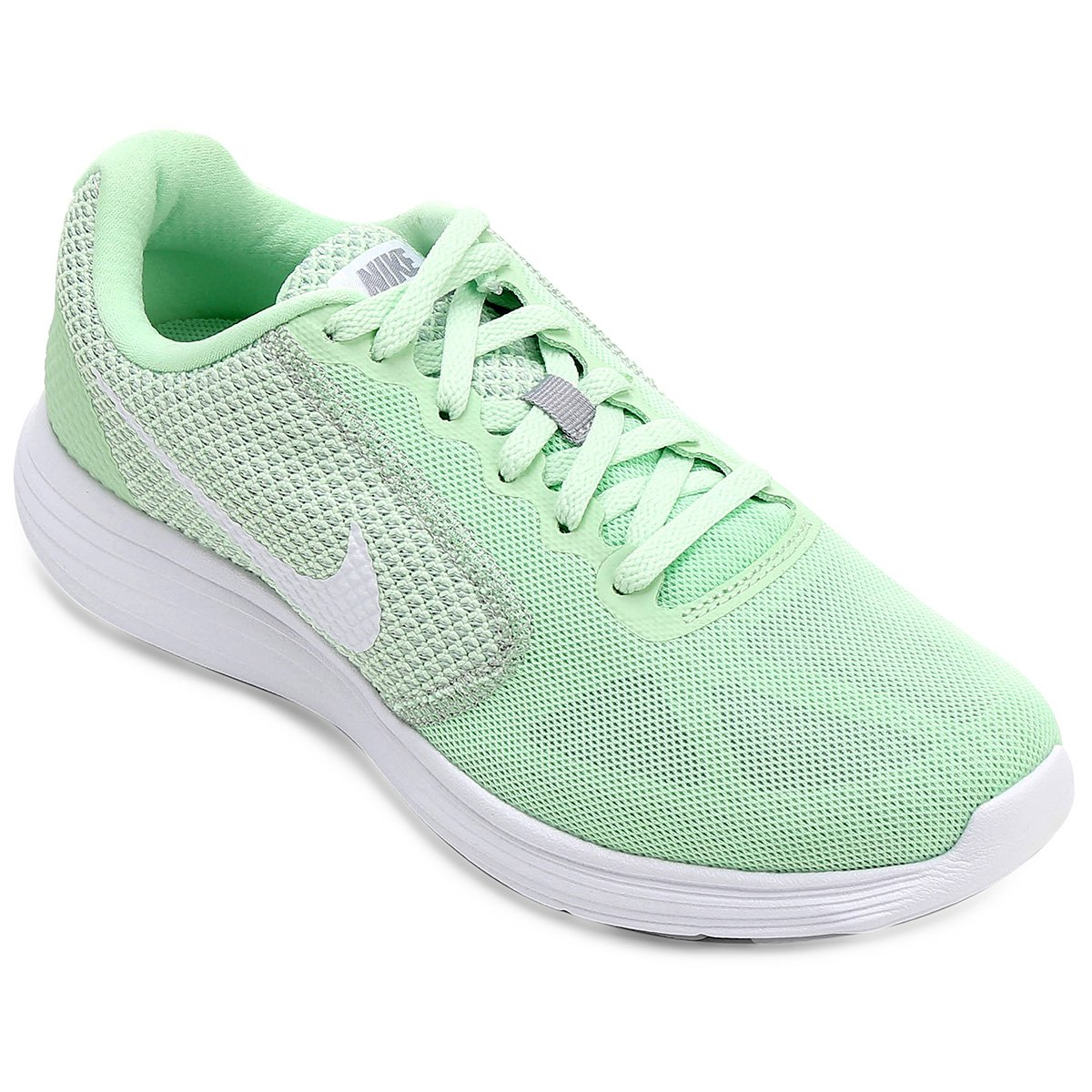 86274ce2ef Tênis Nike Revolution 3 Feminino - Verde e Branco - Compre Agora ...