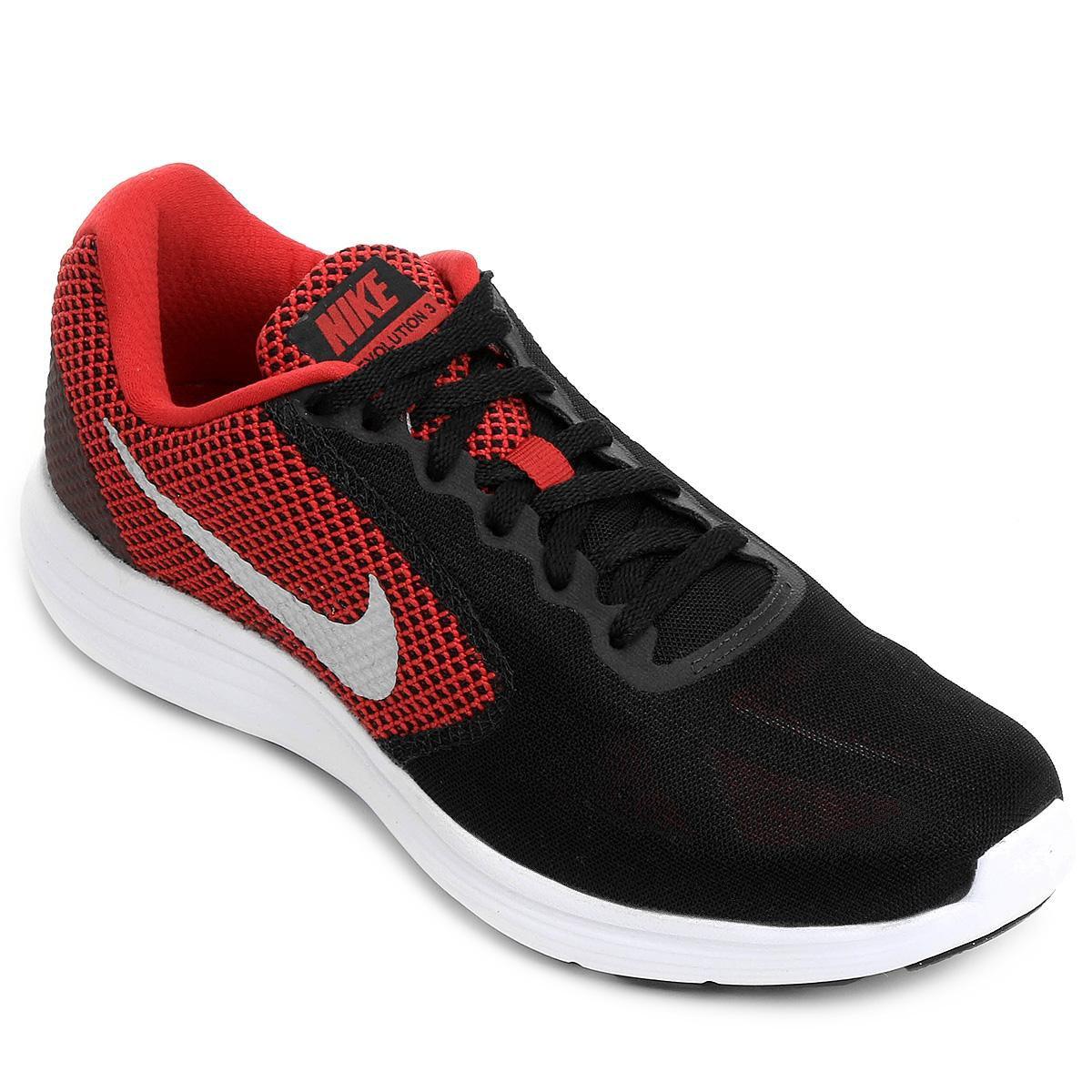 0a63ccc1316 Tênis Nike Revolution 3 Masculino - Vermelho e Preto - Compre Agora ...