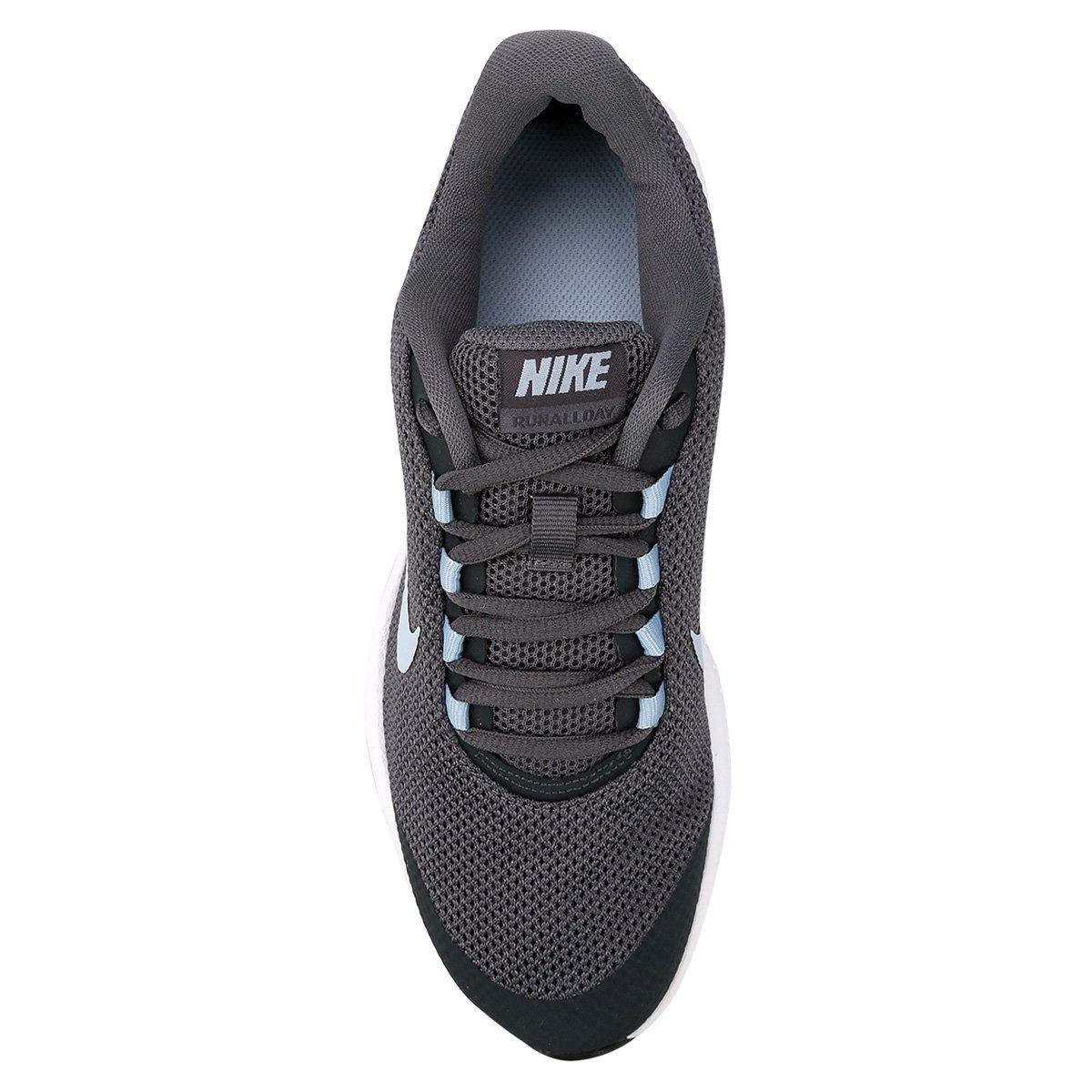 Tênis Nike Runallday Feminino Cinza E Lilás Loja Do Inter