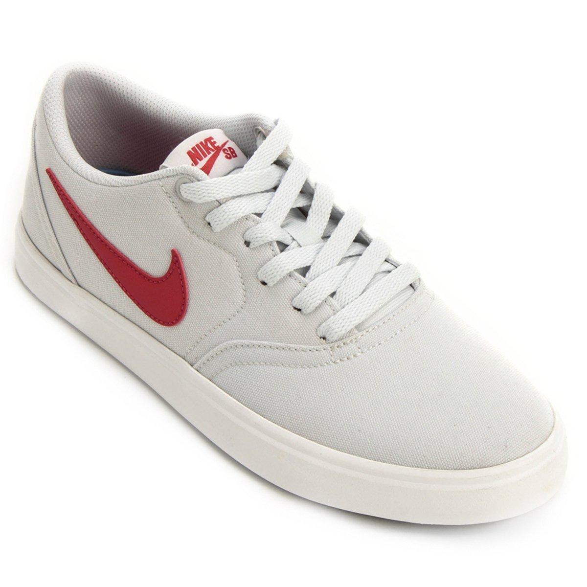080a427a2 Tênis Nike Sb Check Solar Cnvs Masculino - Branco e Vermelho - Compre Agora