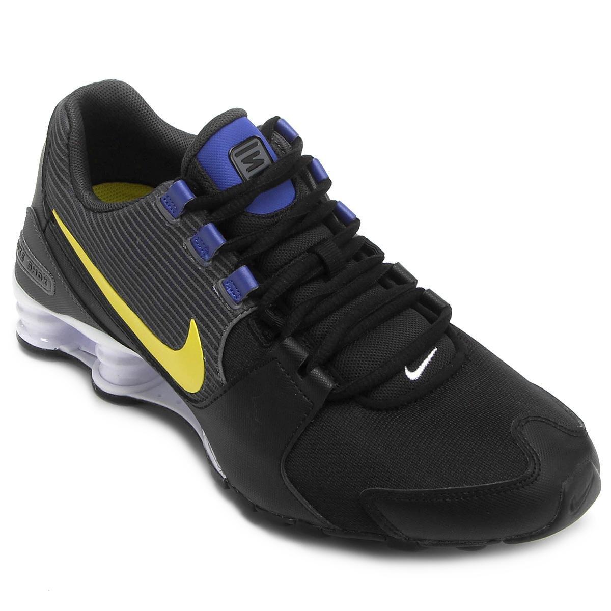 db3162404b Tênis Nike Shox Avenue Masculino - Preto e Azul - Compre Agora ...