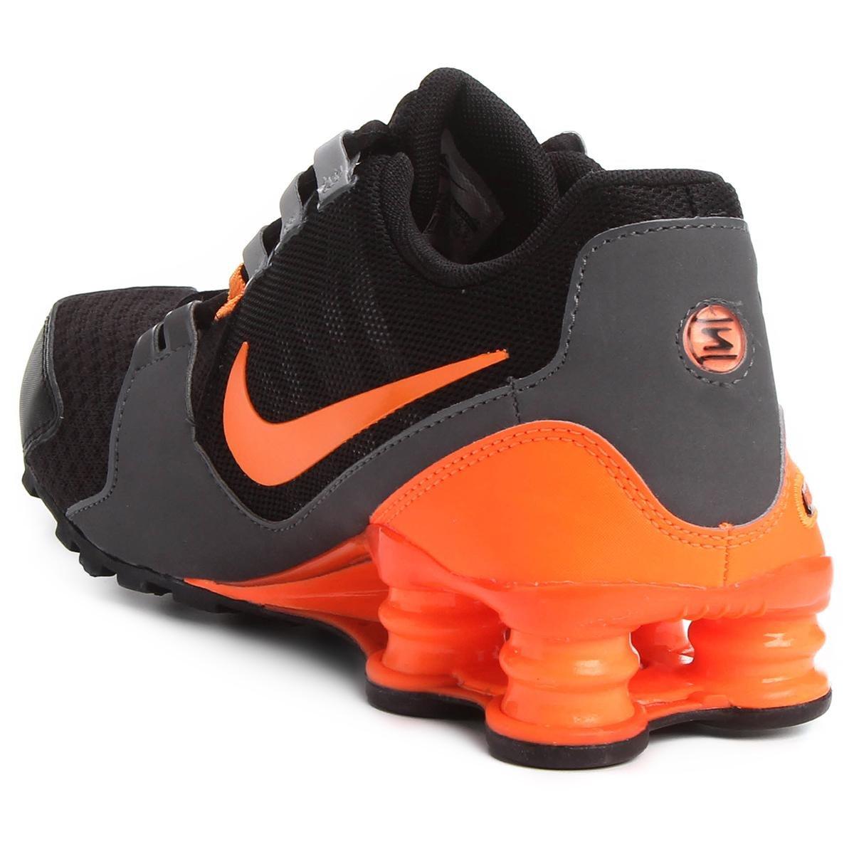 42df0fa672 Tênis Nike Shox Avenue Masculino - Preto e Laranja ...