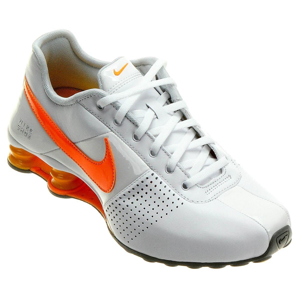 buy online f9d16 9dffc ... tênis nike shox deliver branco e laranja ...