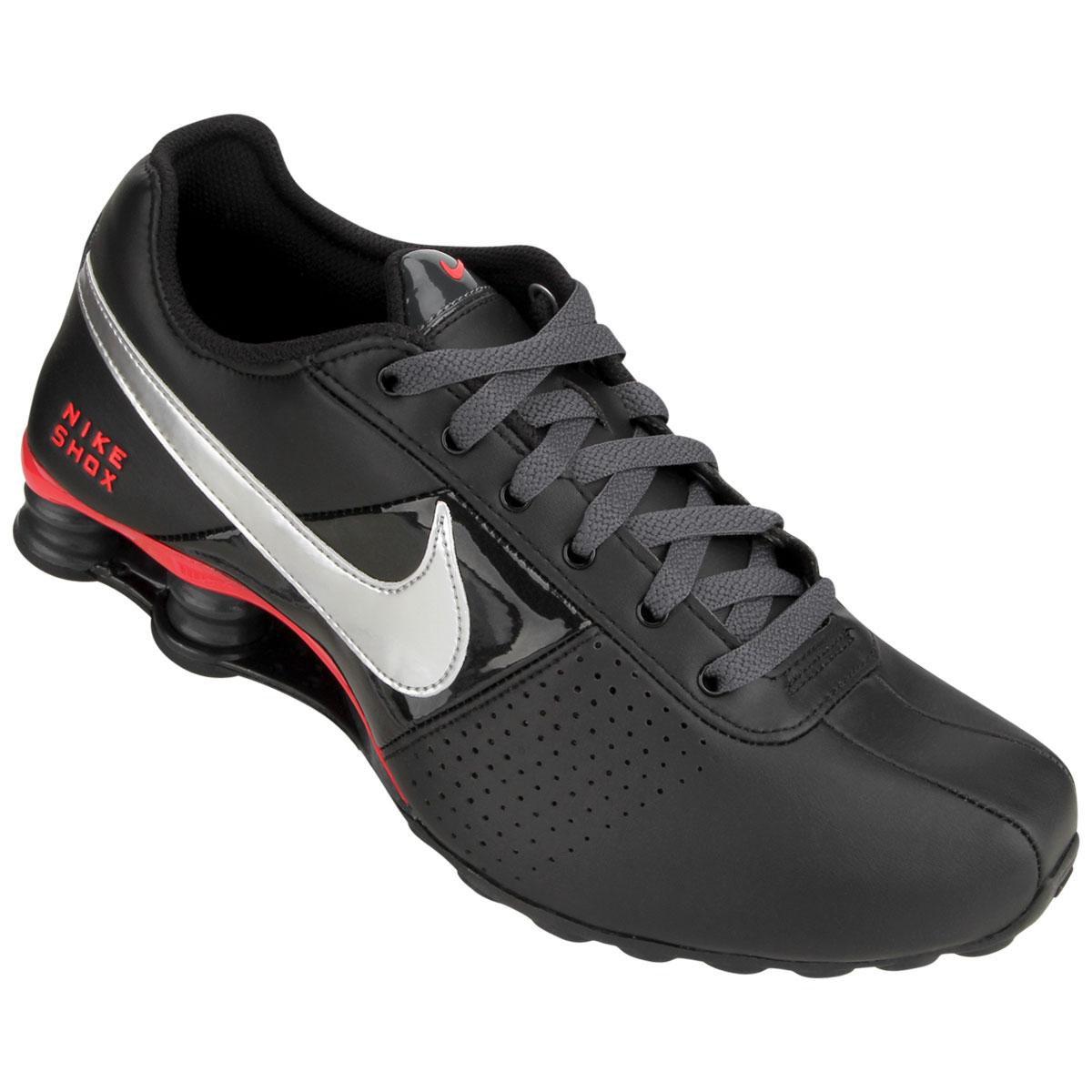 40fd6726619 ... replica 694e0 eb988 Tênis Nike Shox Deliver - Preto e Vermelho . ...