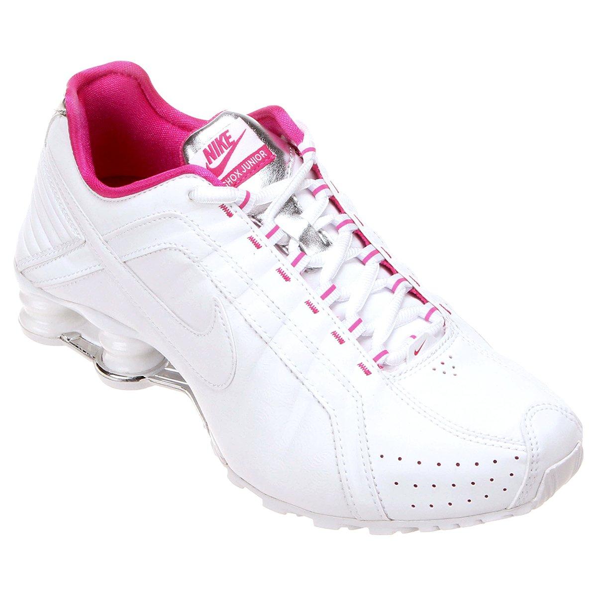 eccc3148b17 Tênis Nike Shox Junior - Branco e Rosa .