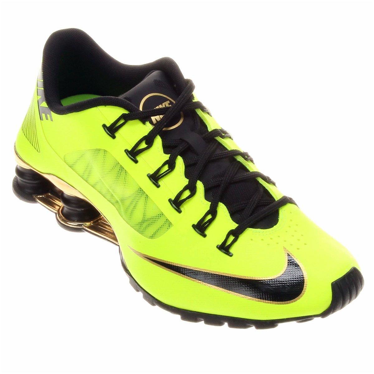 brand new 7e374 21e86 ... Tênis Nike Shox Superfly R4 - Verde Limão e Preto ...