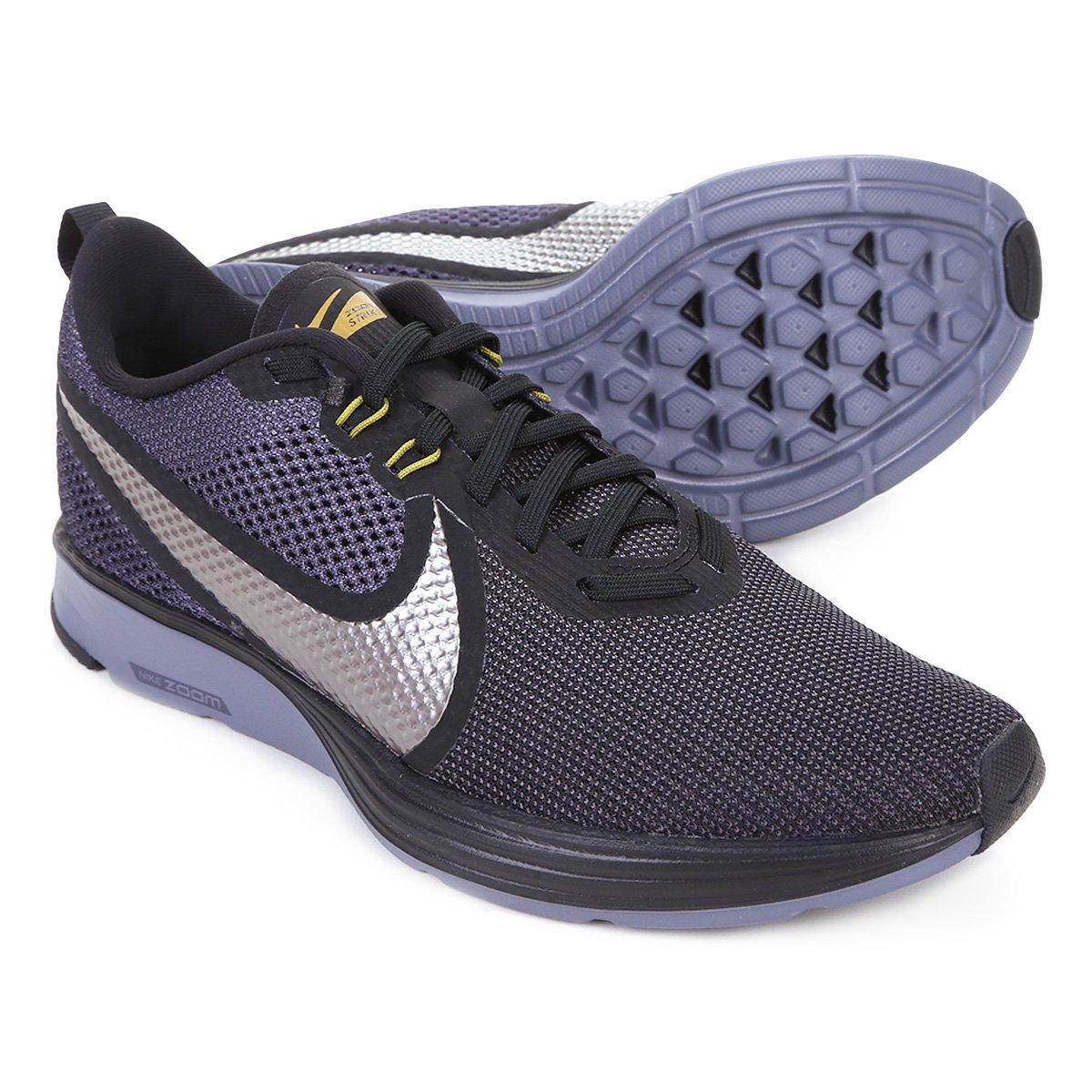finest selection d1ffa 733f5 Tênis Nike Zoom Strike 2 Masculino - Preto e Prata - Compre Agora   Loja do  Inter