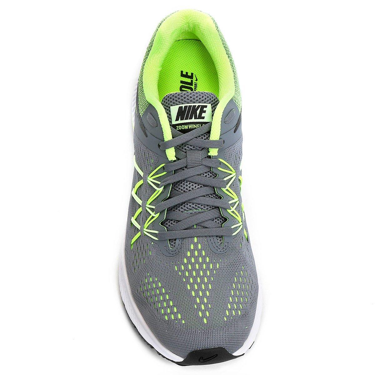 f37bb9b495e ... tênis nike zoom winflo 3 masculino cinza e verde limão