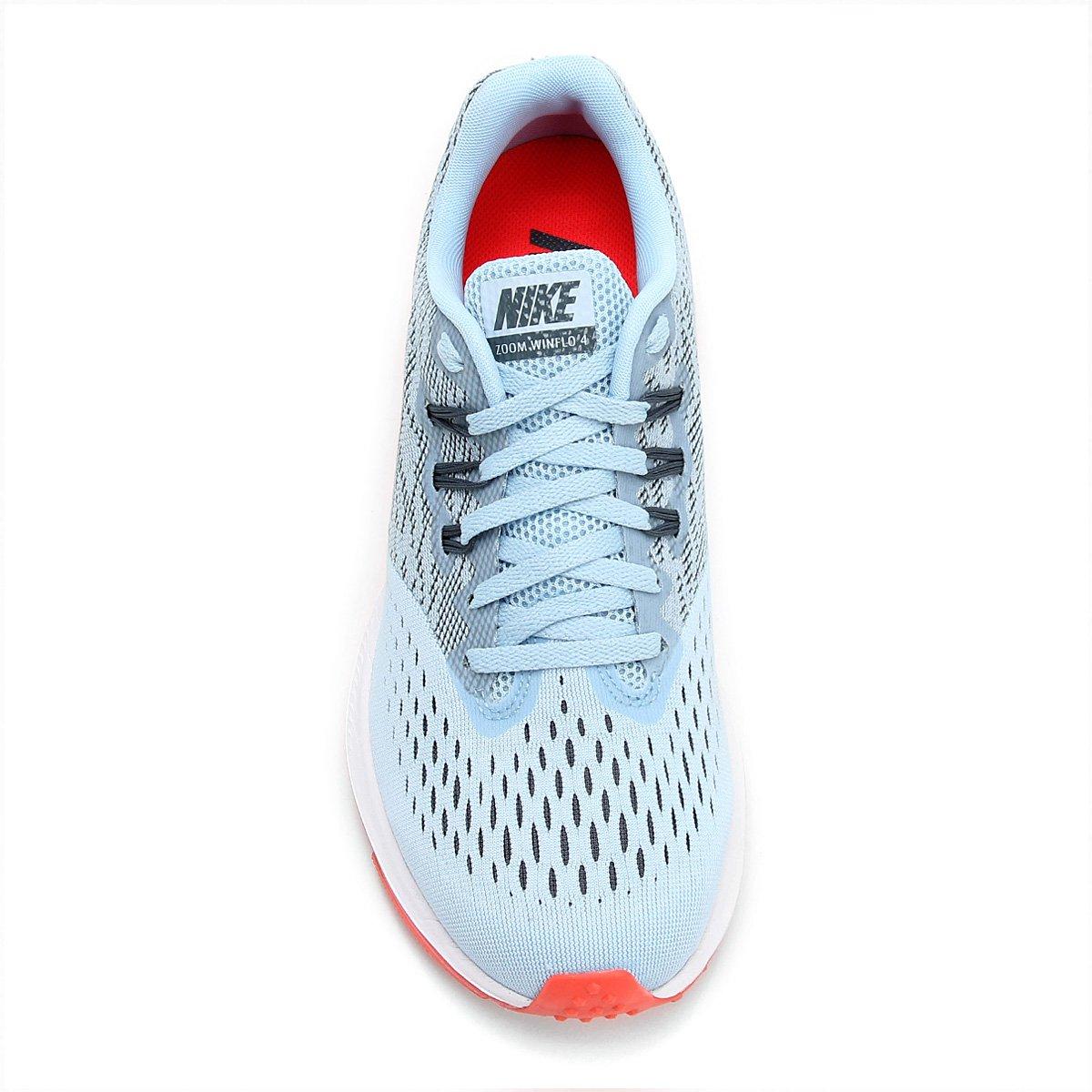Tênis Nike Zoom Winflo 4 Feminino - Azul e Branco - Compre Agora ... 854e257b35e24